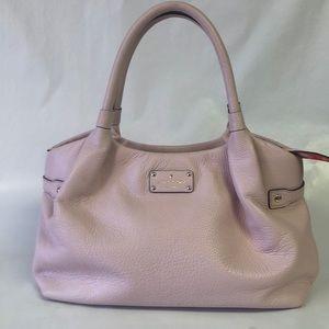 Kate Spade Hobo Tote Pebble Pink Leather